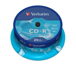 CD-R 52x 700MB 25P CB DL Ex Prot 43432